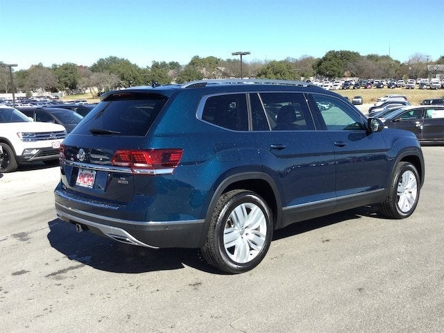 2018 Volkswagen Atlas SEL Premium Captain's Chairs Tourmaline Blue Metallic For Sale San Antonio ...