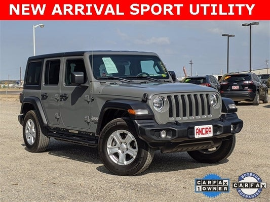used 2020 jeep wrangler unlimited sport for sale in san antonio castroville helotes boerne floresville new braunfels eagle pass laredo tx 1c4hjxdg7lw117849 used cars san antonio 2020 jeep wrangler unlimited sport