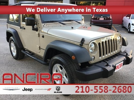 used 2016 jeep wrangler sport for sale in san antonio castroville helotes boerne floresville new braunfels eagle pass laredo tx 1c4ajwag1gl279502 used cars san antonio 2016 jeep wrangler sport
